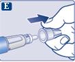 Dra av det yttre nålskyddet