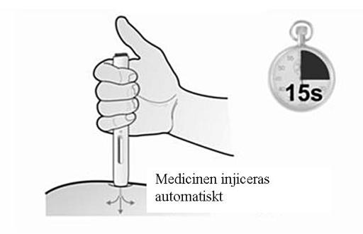 Medicinen injiceras automatiskt