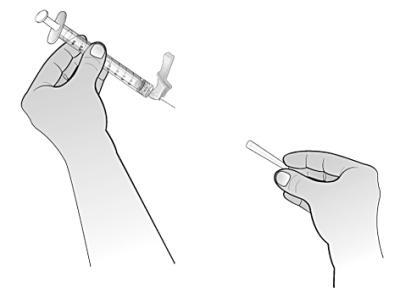 Avlägsna det klara nålskyddet