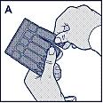 Bild A. Dra av en endosbehållare från kartan.