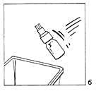 Bilden beskriver kassation av flaskan