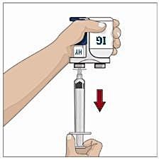 Förbered injektionsflaskan med rekombinant humant HY