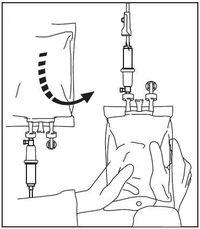 Anslutning av infusionsaggregat