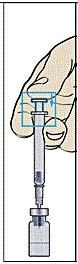 Spruta in spädningsvätskan