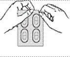 Riv försiktigt upp aluminiumförpackningen (strip)
