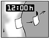 Låt plåstret sitta kvar i högst 12 timmar