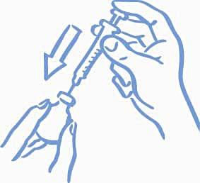 Figur 2: Injicera luft in i injektionsflaskan