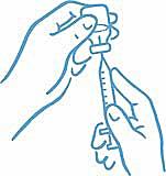 Figur 4: Nålspets i vätskan