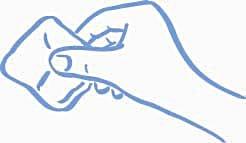 Figur B: Tryck (gnid inte) med en kompress eller bomullstuss
