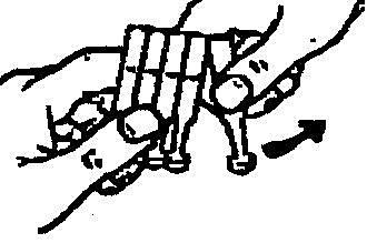 Bilden beskriver hur man river loss en behållare.