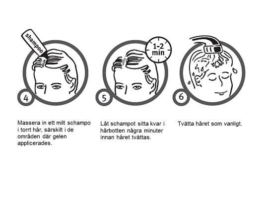 Instruktioner för hårtvätt