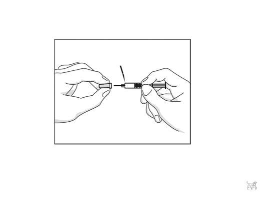 Bilden beskriver hur nålskyddet avlägsnas.