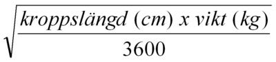 Mosteller's formel
