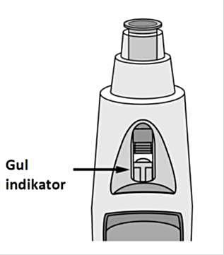 Figur 9 visar fönstret med den gula indikatorn.