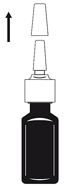 Ta bort skyddslocket från sprayflaskan