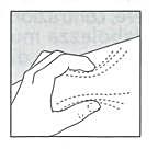 Nyp försiktigt upp skinnet med tumme och pekfinger