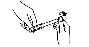 2. Vrid av förslutningen och släng den.