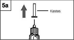 Ta av det inre nålskyddet. Kasta det. (Figur 5a).