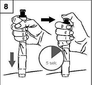 Förbered ett injektionsställe enligt de instruktioner du fått från din läkare eller sjuksköterska.