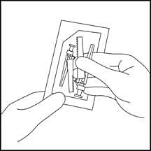 11. Öppna nålförpackningen och ta ut lämplig nål som medföljer i förpackningen.