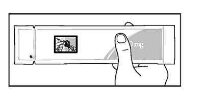 Kontrollera att den laminerade skyddspåsen är obruten innan du öppnar den