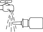 3. Rengör sprayspetsen.