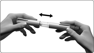 Ta av skyddet på injektionspennan