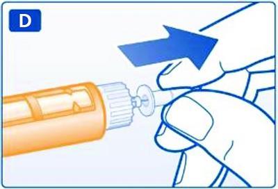 Dra av det inre nålskyddet och kasta det.