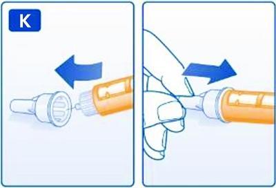Sätt tillbaka nålspetsen i det stora yttre nålskyddet utan att vidröra det. När nålen är inne i skyddet, för på det stora yttre nålskyddet och skruva av nålen.