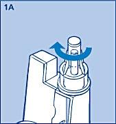 Skruva fast nålen rakt och stadigt på din InnoLet.