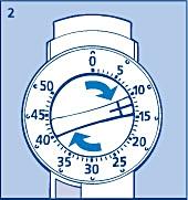 Ställ in det antal enheter som du ska injicera genom att vrida dosväljaren medurs.