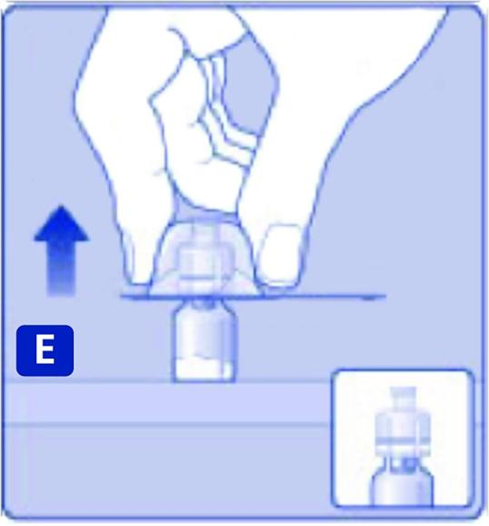Tryck lätt ihop skyddshöljet med tumme och pekfinger.