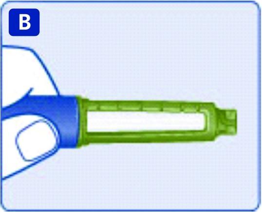 Kontrollera att insulinet i pennan är klart och färglöst.