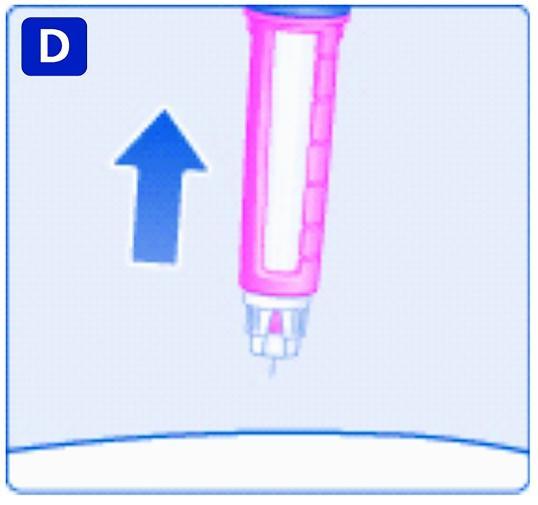 Ta bort injektionsnålen från huden.