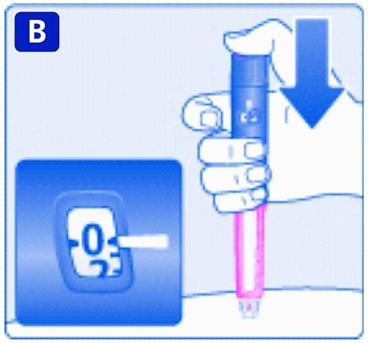 Håll doseringsknappen intryckt tills dosräknaren står på 0.