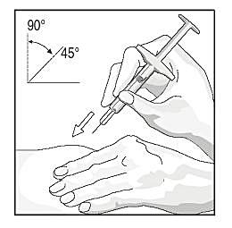 Bilden visar injektionsvinkel