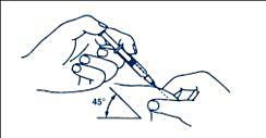 Instickning av nålen