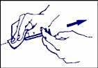 Borttagning av spruta