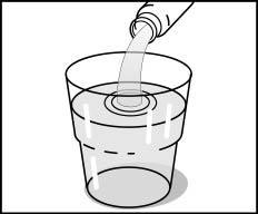 Glas med bikarbonatlösning