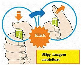 Bilden visar klicket som hörs när injektionen påbörjats
