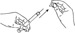 Bilden visar hur man drar av det inre injektionsnålskyddet vilket exponerar nålen.