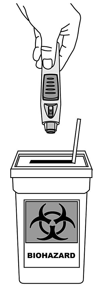 Figuren visar hur man kasserar pennan