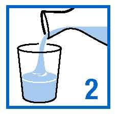 Tillsätt vatten