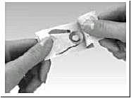 Hur du tar ut Effentora-tabletten ur blistret