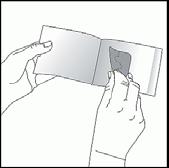 Ta ut plåstret från dospåsen