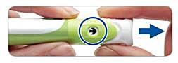 Dra ut injektionsknappen